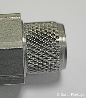 moletage croisé en creux 30° technique de roulage david filetage